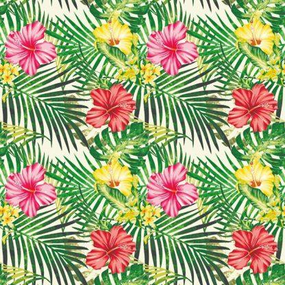 Tissu velours imprimé Tropical imprimé en France