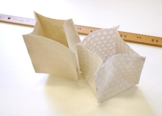 Couture paniers de rangement tissu